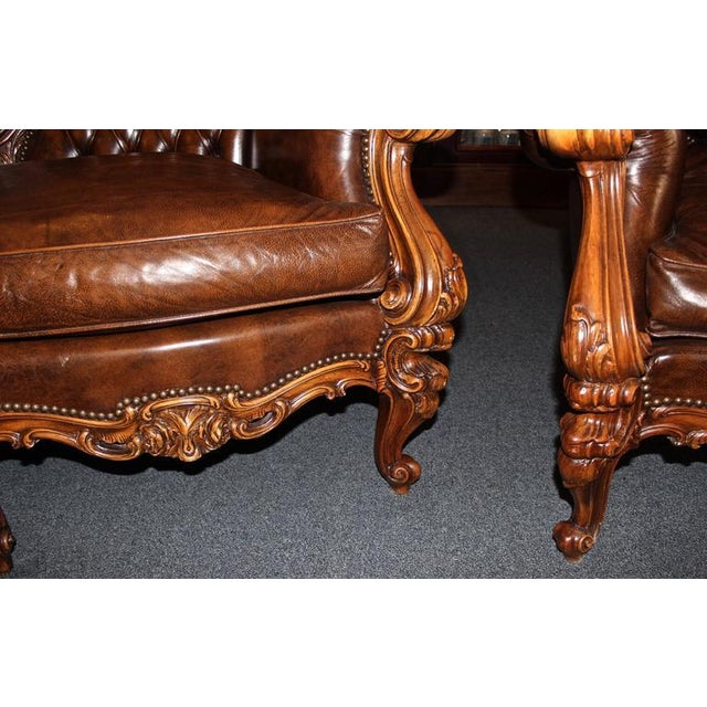 Early 20th Century Antique French Rococo Parlor Set - Set of 3 For Sale - Image 5 of 9