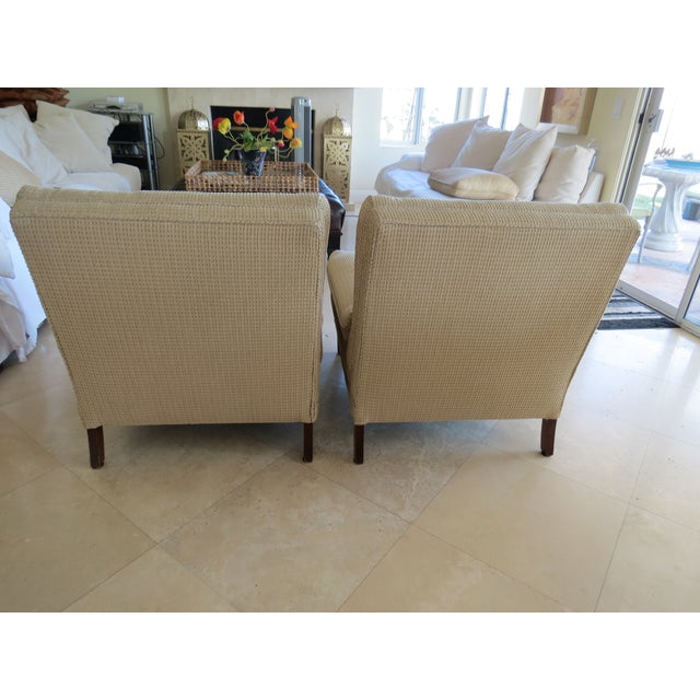 Vintage Mid-Century Twill Accent Chairs - A Pair - Image 6 of 11