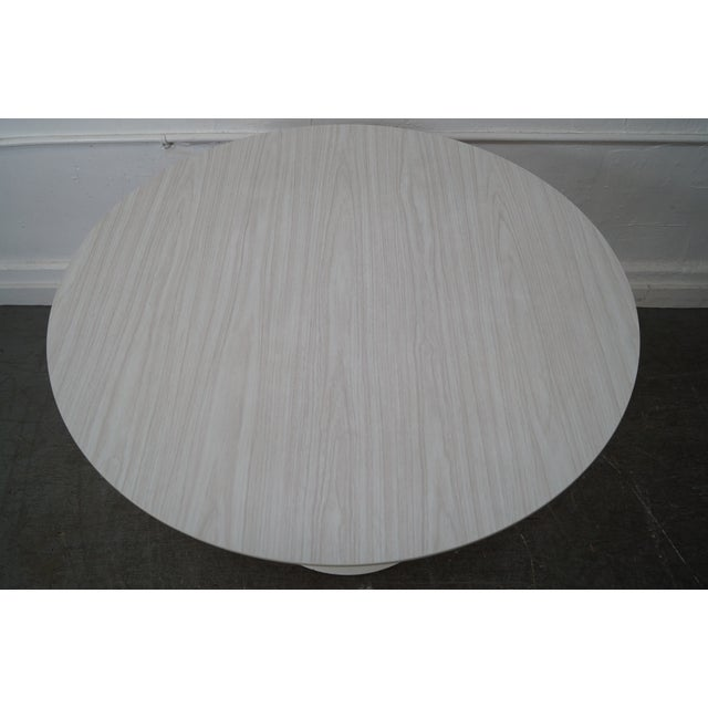 Burke Mid-Century Round Tulip Base Saarinen Style Dining Table by Burke For Sale - Image 4 of 10