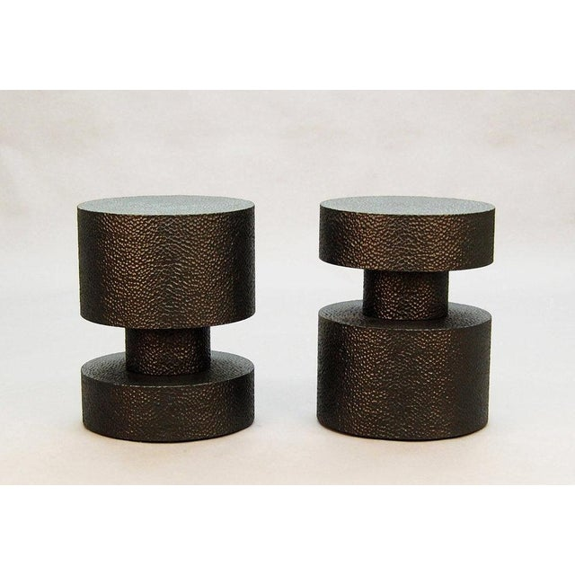 """Designed by John Eric Byers. Side Table or Stool. Shown in Carved Blackened Maple. Shown at 20"""" Diameter x 16"""" x 16"""" H...."""
