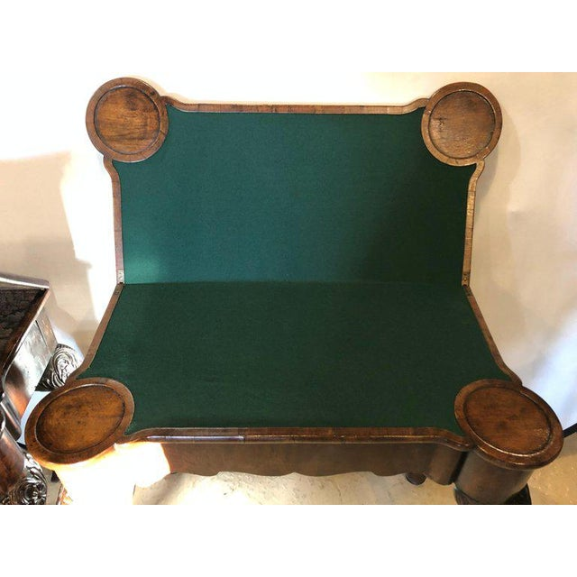 Green Pair of 18th-19th Century Georgian Compatible Card / Game or Flip Top Tables For Sale - Image 8 of 13