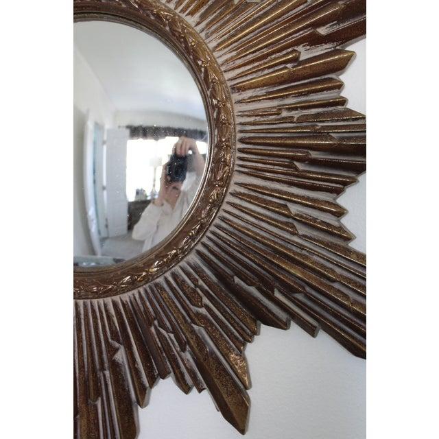 Mid-Century Convex Sunburst Mirror For Sale - Image 4 of 7