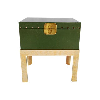 Vintage Green Chest on Stand by Hall For Sale