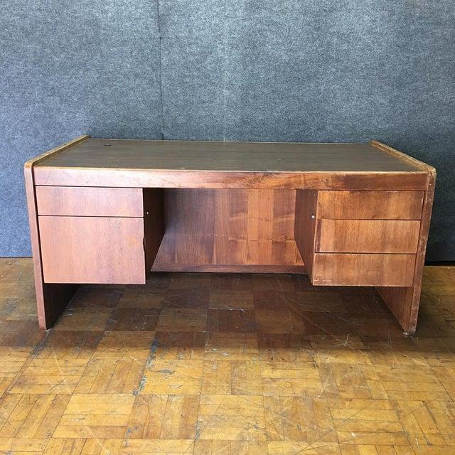 Vintage Modern Executive Desk - Image 2 of 10