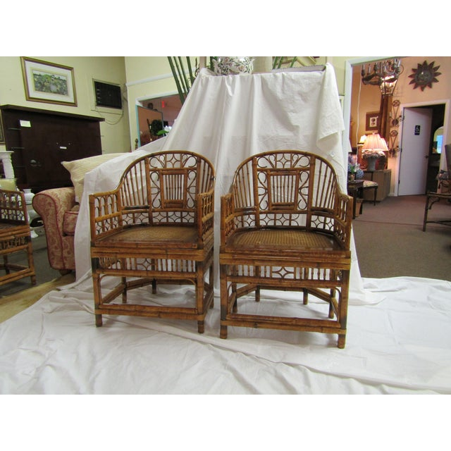Tortoise Bent Bamboo Arm Chairs - A Pair - Image 2 of 5
