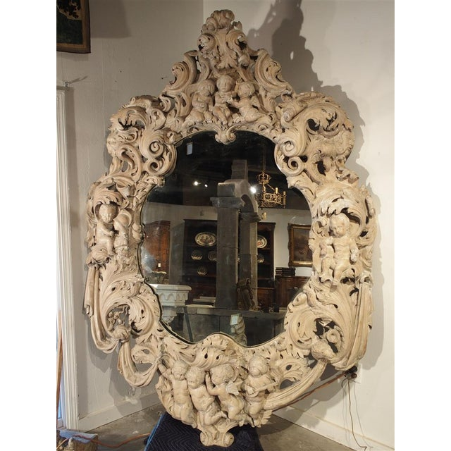 Monumental 19th Century Baroque Mirror from Italy For Sale - Image 11 of 11