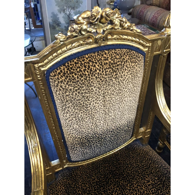 French Louis Gold Gilt Chairs - a Pair For Sale - Image 4 of 10