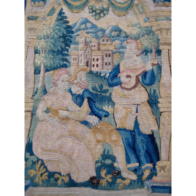 Large 16th Century Flemish Tapestry Wall Hanging For Sale - Image 9 of 13