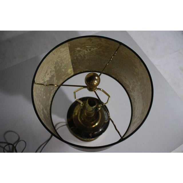 Stiffel Marble and Brass Table Lamp For Sale In Chicago - Image 6 of 8