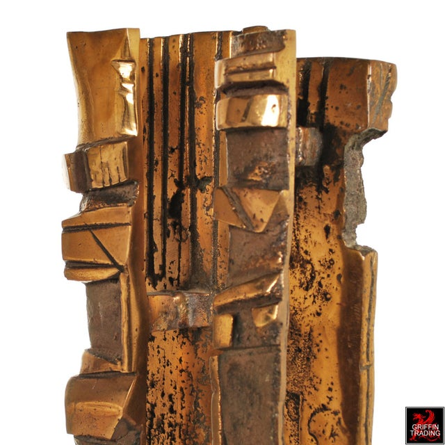 Bronze Brutalist Abstract Sculpture For Sale - Image 9 of 13