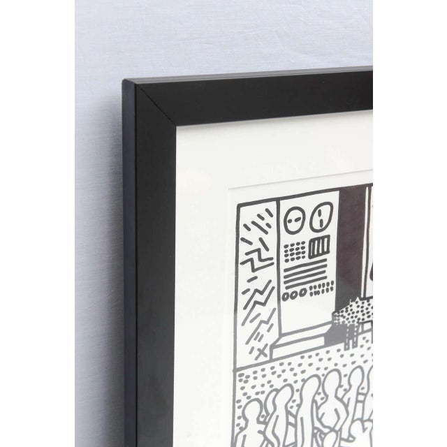 Black Keith Haring Serigraph, New York 1982 For Sale - Image 8 of 9