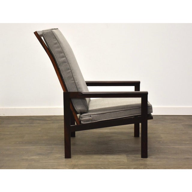 Illum Wikkelsø Illum Wikkelso Rosewood High Back Lounge Chair For Sale - Image 4 of 13