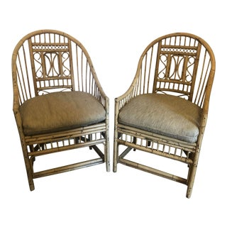 Vintage Brighton Style Bamboo Chairs - a Pair For Sale