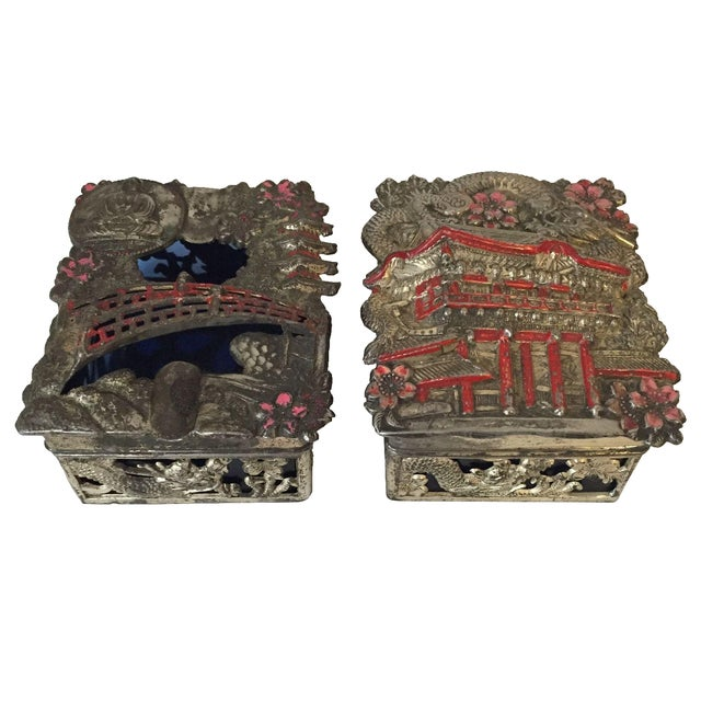 Vintage Japanese Jewelry Boxes - A Pair - Image 1 of 9