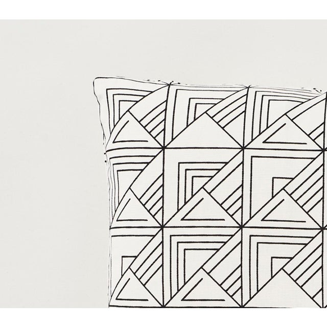 Contemporary Schumacher Frank Lloyd Wright St. Marks Check Print Black & White 18 X 18 Pillow - Pair For Sale - Image 3 of 6