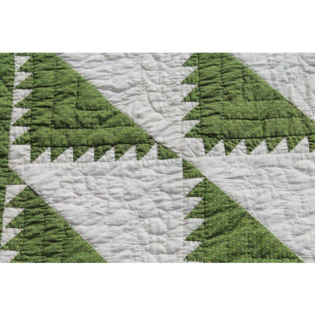 Late 19th Century Antique Quilt 19th Century Delectable Mountains Quilt For Sale - Image 5 of 9