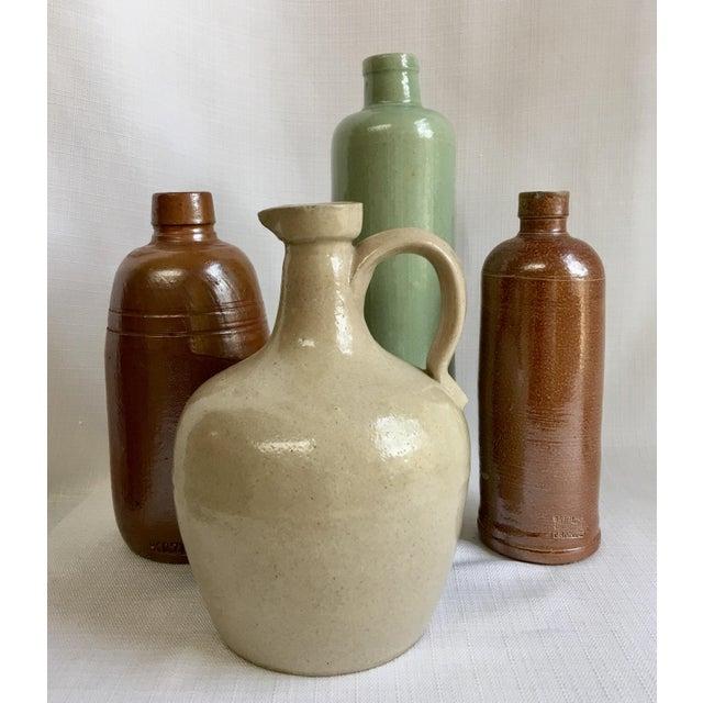 Vintage Neutral Stoneware Bottles - Set of 4 For Sale - Image 11 of 11