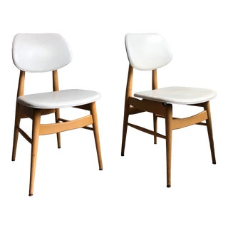 1960s Mid Century Modern Thonet Dining Chairs - a Pair For Sale