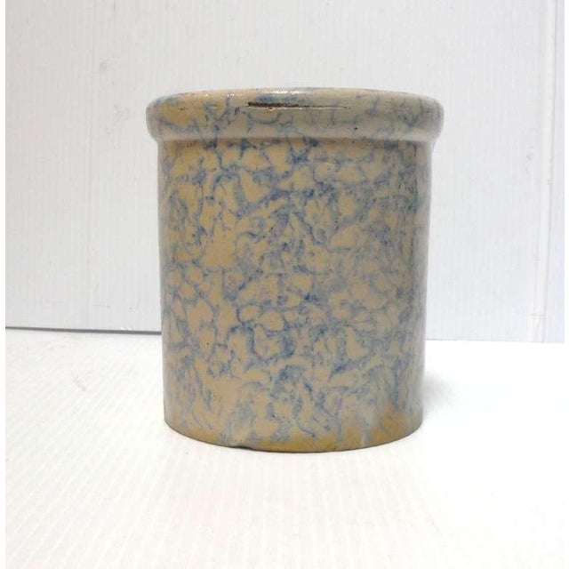 Rare 19thc Spongeware Pottery Cookie Jar For Sale In Los Angeles - Image 6 of 6