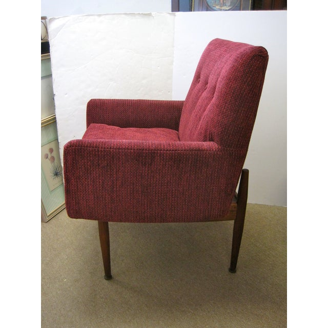 Jens Risom Male & Female Chairs & Ottoman - S/3 - Image 6 of 11