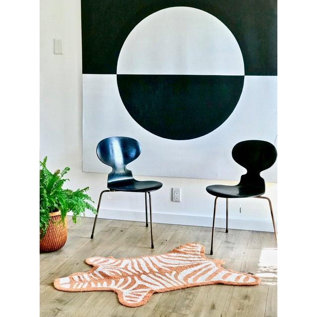 Boho Chic Jonathan Adler Tiger Stripe Rug - 3′3″ × 4′9″ For Sale - Image 3 of 8