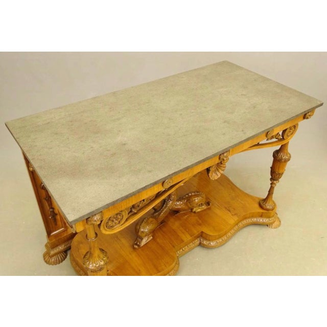 Mid 19th Century 19th Century Biedermeier Fruitwood Console For Sale - Image 5 of 8