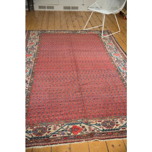 "Vintage Malayer Carpet - 5'8"" X 8'5"" For Sale - Image 10 of 12"