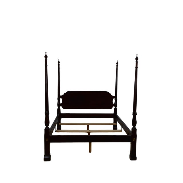 20th Century Traditional Stickley Solid Mahogany Queen Poster Bedframe For Sale - Image 12 of 12