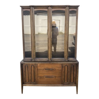 Mid Century Modern China Hutch by Bassett For Sale
