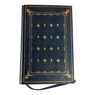 "Vintage ""The Sound and the Fury"" Blue & Gold Leather Bound Book by William Faulkner For Sale"