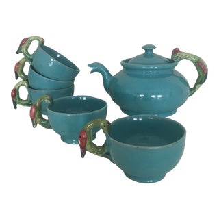 Vintage Italian Faience Tea Set - Set of 6