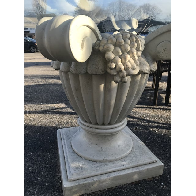 Art Nouveau Vintage Mid Century Outdoor Pedestal Table For Sale - Image 3 of 5