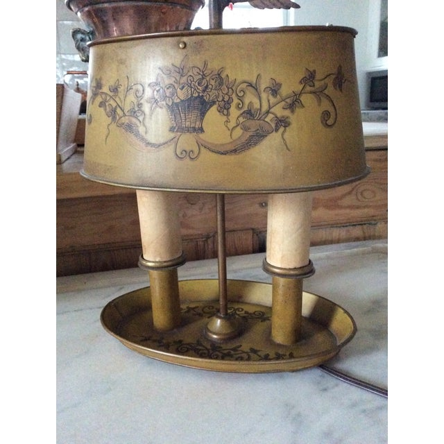 1940s Vintage French Tole Bouillotte Desk Lamp For Sale - Image 11 of 12