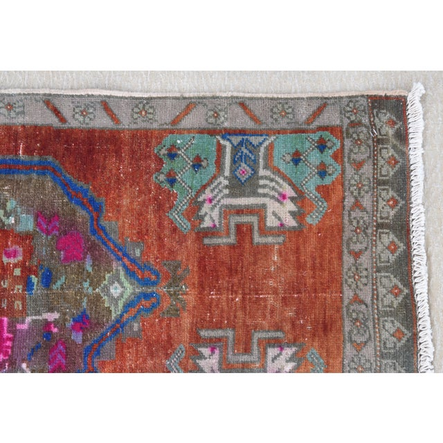 """Early 20th Century Turkish Accent Rug - 1'10"""" X 3'7"""" For Sale - Image 4 of 8"""