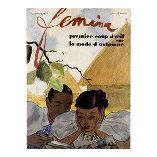 """Femina, September 1935"" Original Vintage French Magazine Cover. For Sale"
