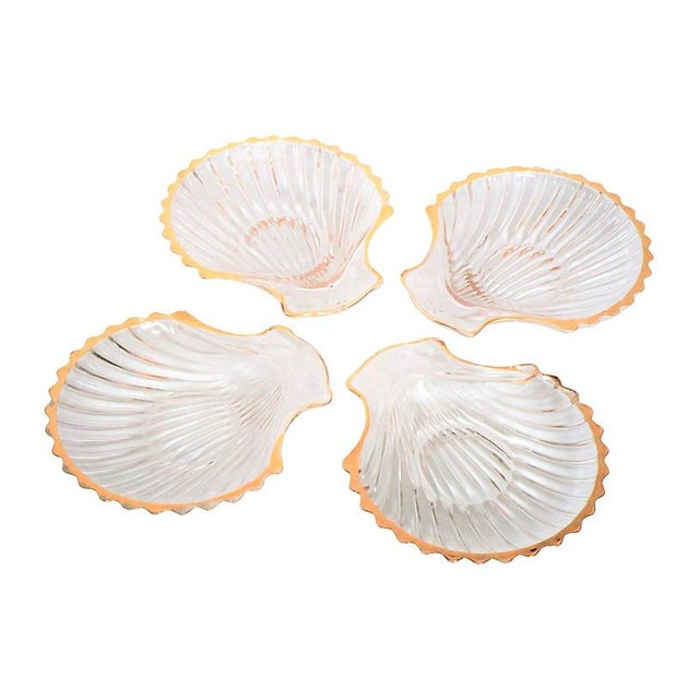 Gilded Shell Nut Dishes - Set of 4 For Sale - Image 4 of 4