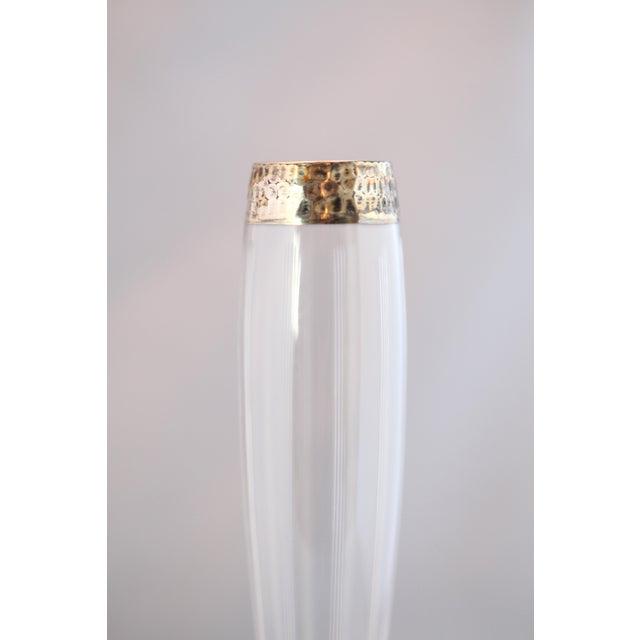 Antique Hammered Sterling & Crystal Bud Vase - Image 3 of 9