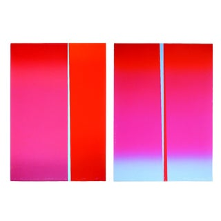 Pair of Leon Berkowitz Abstract Serigraphs For Sale