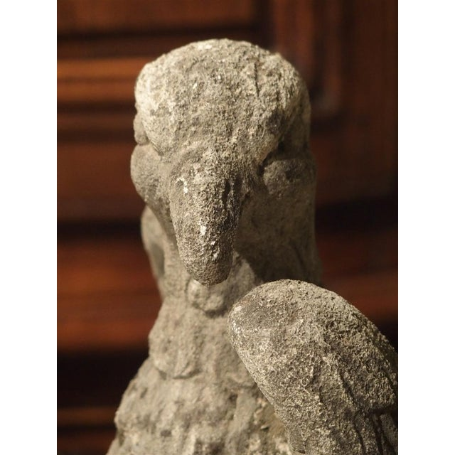 Carved Northern Italian Limestone Eagle Statue, 20th Century For Sale - Image 4 of 12