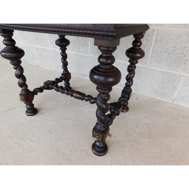 Antique Spanish Baroque Style Mahogany Nightstand End Table For Sale - Image 9 of 13