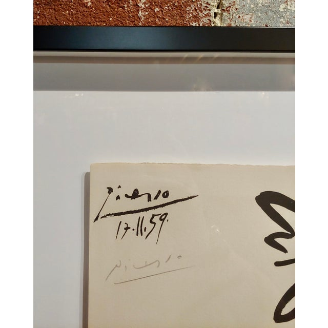 1950s Pablo Picasso - Dancer & Goat - 1959 Lithograph -Pencil Signed For Sale - Image 5 of 8