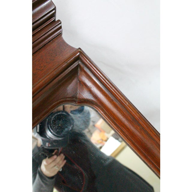 Brown 1920's Antique Scroll Top Shell & Acorn Finial Mirror For Sale - Image 8 of 10