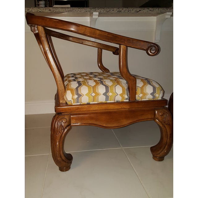 Thomasville Scroll Accent Chairs - Pair - Image 4 of 5