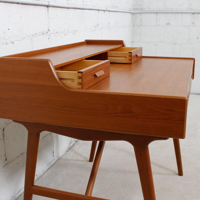 Iversen Danish Teak Writing Desk - Image 5 of 8