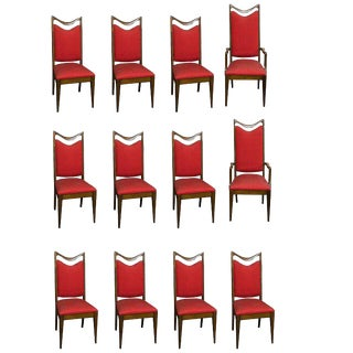 12 Custom Made Mahogany Dining Chairs