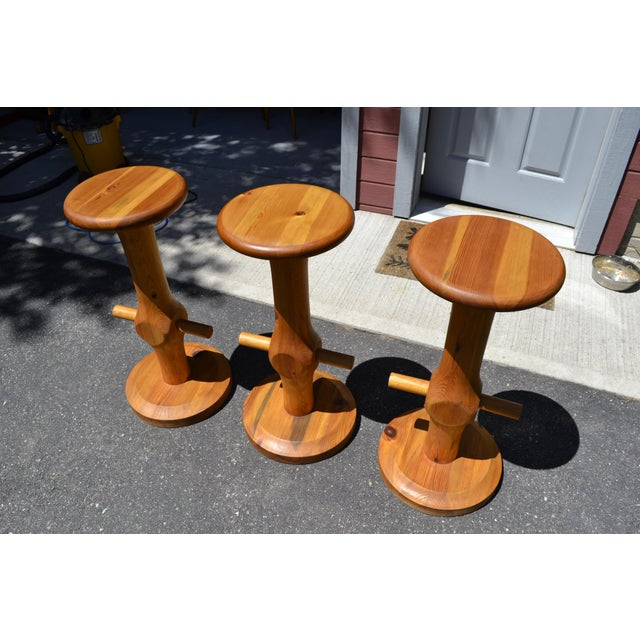 Swedish Modern Anders Andersson Bar Stools - Set of 3 - Image 2 of 5