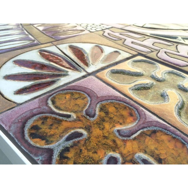 Metal Studio Ceramic Tile Top Table by Brent Bennett For Sale - Image 7 of 10