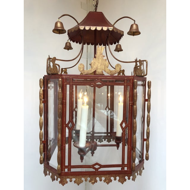 Vintage Chinoiserie Lantern Pendant For Sale - Image 13 of 13