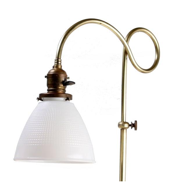 Brass Table Lamp W/ Milk Glass Globe - Image 4 of 10