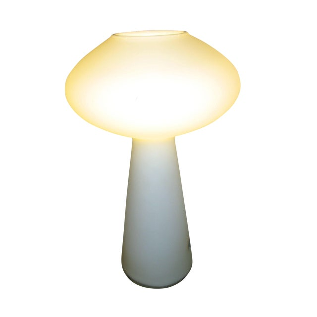 VIntage Lisa Johanssen-Pape White Glass Table Lamp For Sale